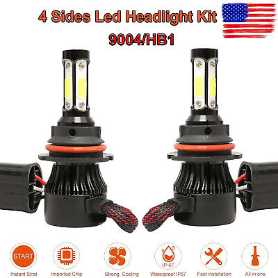9004 HB1 LED Headlight Conversion Kit Hi/Low Beam Bulbs White 560W 58000LM 6500K