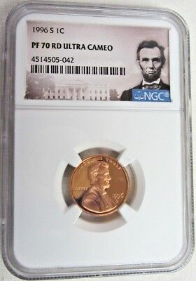 1996 S Proof Lincoln Memorial Cent/Penny - NGC PF 70 Red Ultra Cameo (5-042)