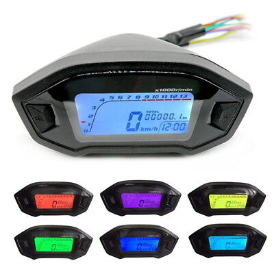 Motorcycle LCD Digital Speedometer Odometer Backlight for 2,4 Cylinder 1300r/min