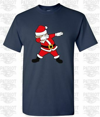 6dfc9106 Dabbing Santa Claus Elf Funny Holiday Merry Christmas T-shirt Tee Graphic  Ugly