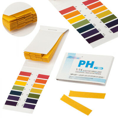 80X Test Strips Litmus Test Paper Full Range 1-14 pH Acidic Alkaline Indicator