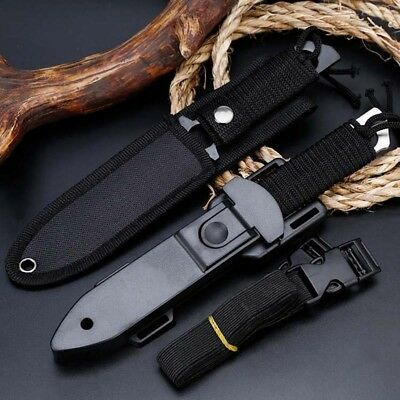 """8"""" Fixed Blade Straight Tactical Military Pocket Hunting Knife With Sheath"""