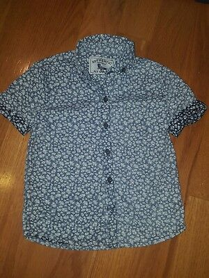 next direct boys shirt size 3-4 years   shirt sleeve blue and white
