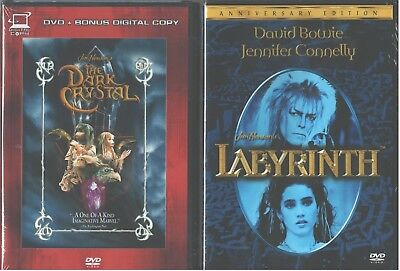 Jim HENSON'S: Oscuro Cristal + Labyrinth- David Bowie + Jennifer Connelly- Nuevo