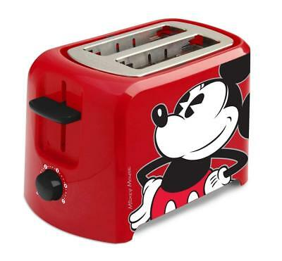 Disney DCM-21 Mickey Mouse 2 Slice Toaster Red And Black