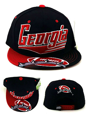 d31c231e7a6 Georgia New Leader GA Flash 4 Bulldogs Colors Black Red Era Snapback Hat Cap