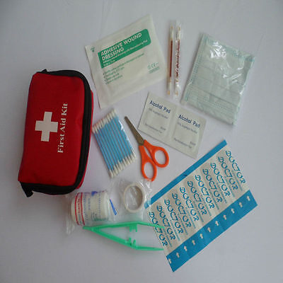 Mini Emergency Medical Bag First Aid Kit Pack Travel Survival TreatmentRescue _F