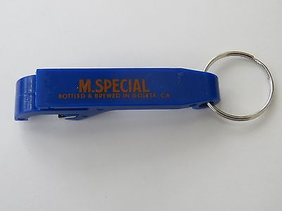 Beer Bottle Cap Opener Key Chain ~*~ M. SPECIAL Brewing Co ~ Goleta, CALIFORNIA