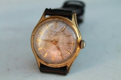 Antique Vintage Old German Junghans Trilastic Gold Plated 17Jewels  Wrist Watch
