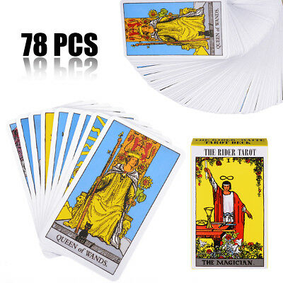 1 Set 78Pcs Rider Waite Tarot Deck Beginners Enthusiasts Gifts Games Cards