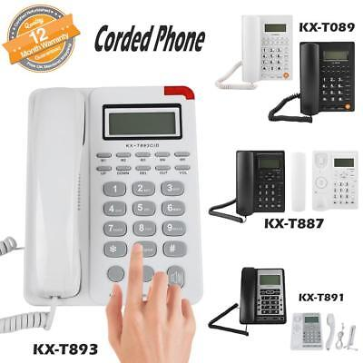Wall Mount Corded Phone Telephone Home Office Desktop Phone W/ Caller ID Decor