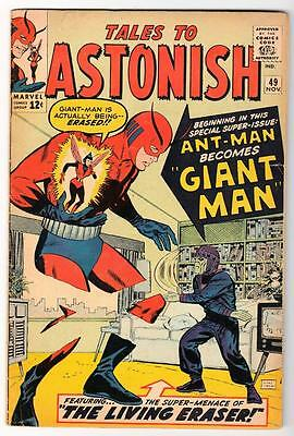 Marvel TALES TO ASTONISH 49 CENT Mid high grade GIANT MAN AVENGERS 5.5 FN-