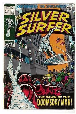 MARVEL Comics SILVER SURFER  Issue #13 Galactus Fantastic four VG 1970