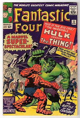 Marvel Comics FN+ 5.5  FANTASTIC FOUR  #25  HULK V Thing Battles