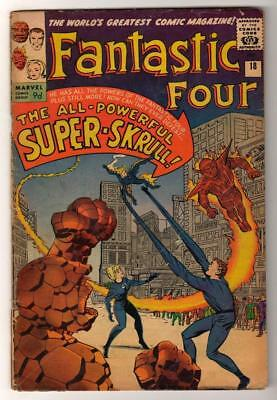 Marvel Comics VG 4.0 FANTASTIC FOUR  #18  1st SUPER SKRULL  mid  grade