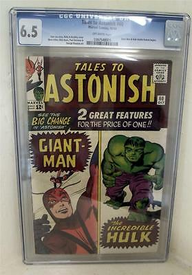 Marvel Comics 6.5 CGC  #60 JACK KIRBY TALES TO ASTONISH 1963 HULK GIANT MAN
