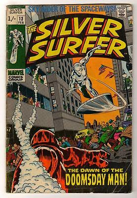 MARVEL Comics SILVER SURFER  Issue #13 Galactus Fantastic four VG- 1970