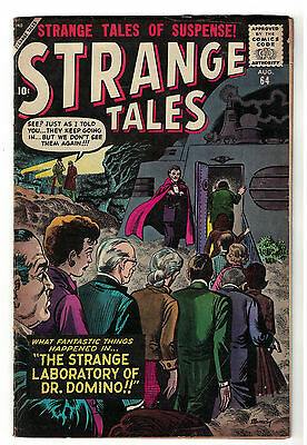 Strange tales  Marvel comics 64 VG+ 4.5 1958 Horror Dr Domino Atlas