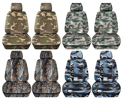 Truck Seat Covers 2015-2018 Ford F150 Camouflage Design Custom Fit Front Set ABF