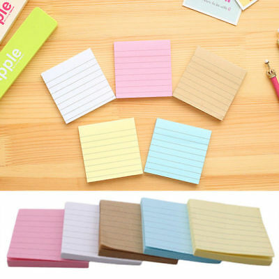 1pcs Sticky Notes Notebook Memo Pad Bookmark Paper Sticker Notepad Stationery CN