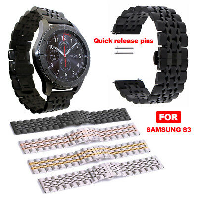 22MM Stainless Steel strap Watch Band for Samsung Gear S3 Frontier/ Classic Gear