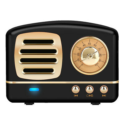 Mini Retro Hifi Altavoz Inalámbrico Bluetooth V4.1 Reproductor de Audio