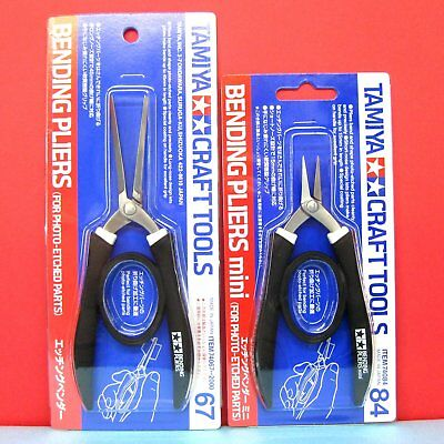 Tamiya #74067 Bending Pliers + #74084 Bending Pliers mini for Photo-Etched Parts