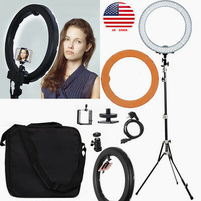 18'' Dimmable 5500K LED Ring Light Lighting Kit w/ Reverse Folding Light Stand