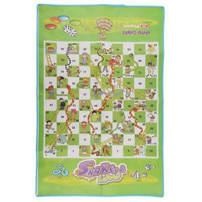 Snakes And Ladders Play Mat Rug Floor Board Game Giant Portable KS