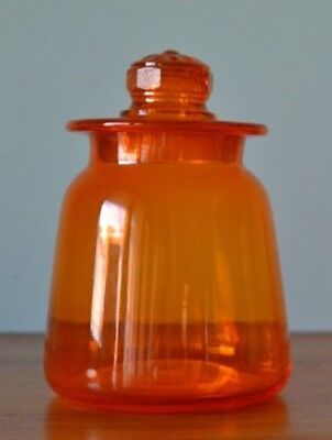 Vintage  orange glass canister jar storage retro kitchen