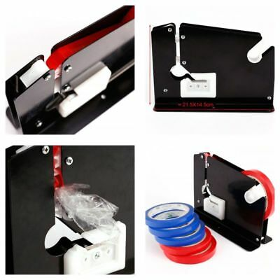 New Bag Neck Sealer Sealing Tape Dispenser W/ Trimming Blade with 6 Rolls Tapes