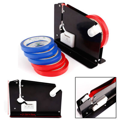 Trimming Blade Plastic Bag Neck Sealer Sealing Tape Dispenser + 6 Rolls Tape