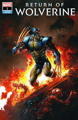 Return Of Wolverine 1 Clayton Crain Fire Variant New Claws Vf Very Rare Low Run