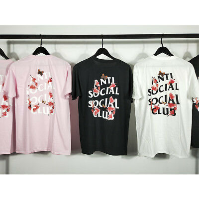 NEW AntiSocial tee Anti social social club cherry  blossom Unisex T-shirts Top