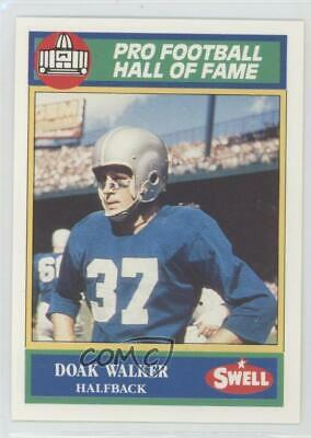 1990 Swell Pro Football Hall of Fame #137 Doak Walker Detroit Lions Card