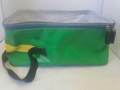 Green Durabag Large Wipe Down Medical Grab Bag With Clear Lid