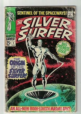 MARVEL COMICS issue 1  SILVER SURFER fantastic four VG- 3.5 1969