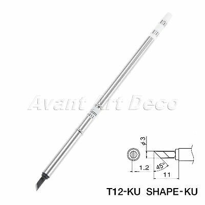 1pc XA High Grade T12-KU Soldering Iron Tip Replace for Welding Component 150mm