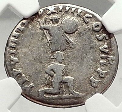 TITUS Authentic Ancient 79AD Silver Roman Coin JUDAEA CAPTA CAPTIVE NGC i72949