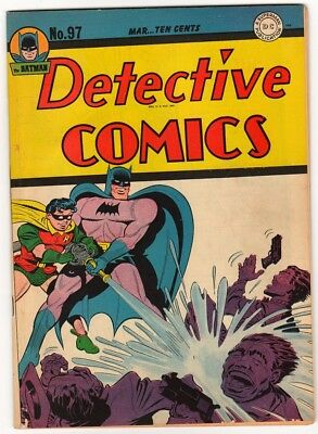 DC Comics DETECTIVE BATMAN 1945 Golden age #97 FN- 1945