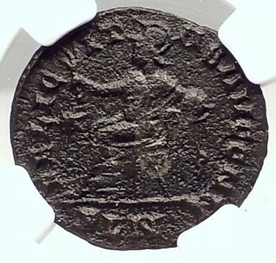 CONSTANTINE I the Great 311AD London Mint Ancient Roman Coin ROMA NGC i72955