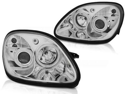 Angel Eyes Scheinwerfer Set Mercedes Benz R170 SLK BJ 04.96-04 Klarglas / Chrome
