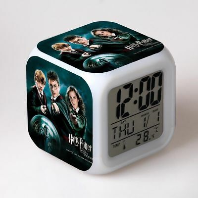 HOT Alarm Clock Harry Potter Hermione 7-Color Changing Alarm Clock in Box Gift