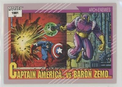 1991 Impel Marvel Universe Series 2 #99 Captain America vs Baron Zemo Card 5sb