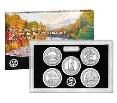2013 S America The Beautiful Silver Proof Quarters 5 Coin US Mint Parks Set