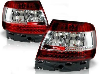 LED Rückleuchten Set Audi A4 B5 BJ 11.94-09.00 Klarglas / Rot / Chrome