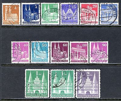 Germany Postage Stamps Scott 635a-659a, Used Set - Perf 14 & Type II!!! G1149e