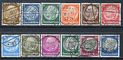 Germany Postage Stamps Scott 401-406, 408-413, Used Partial Set!! G1045b