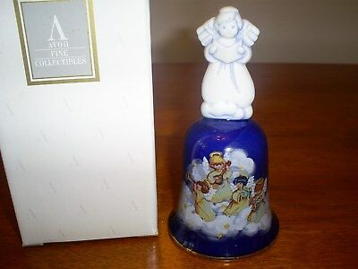 "Vintage AVON 1992 Porcelain Christmas Bell ""Avon Heavenly Notes"" in original box"