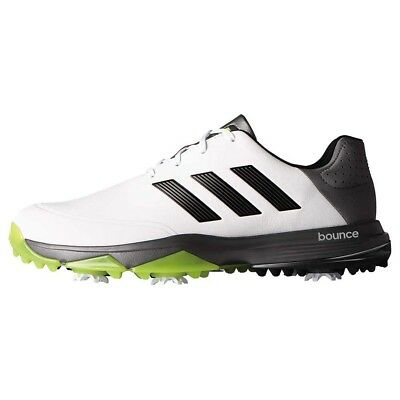 NEW Mens Adidas Adipower Bounce Golf Shoes White / Black / Slime Size 14 M